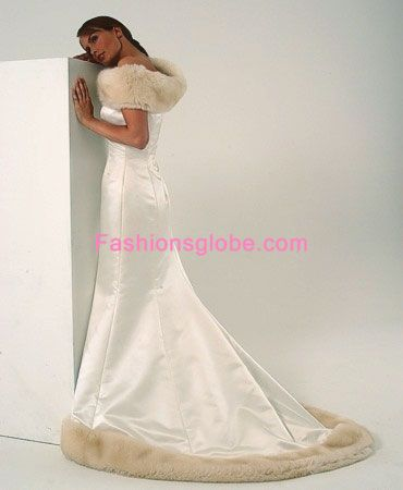 White Christmas Wedding Gown