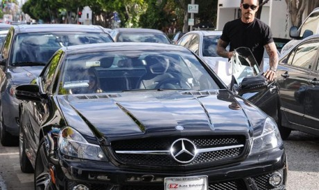Carmen Electra & Rob Patterson Luxury Car Photos