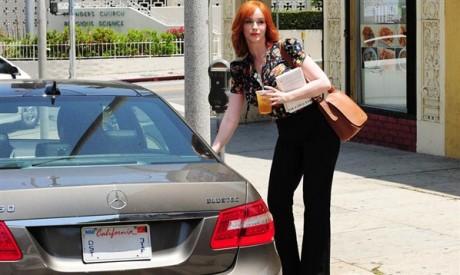 Christina Hendricks Car Photo