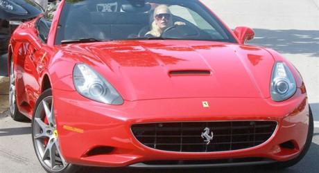 Heidi Montag Red Luxury Car Photos