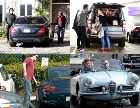 Hollywood stars with their cars