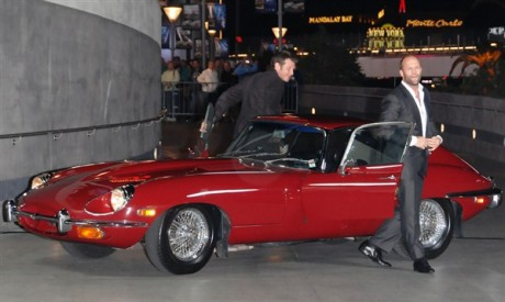 Jason Statham & Jason Flemyng in Red Car Photos