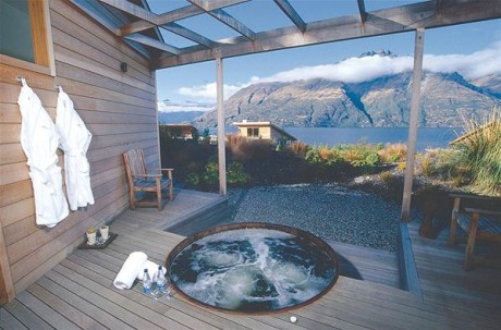 Soak in a spa at Matakauri Lodge