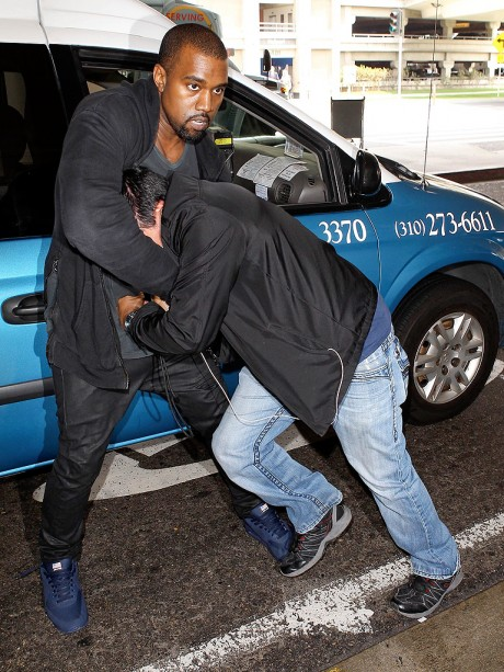 Kanye West Fighting Photo