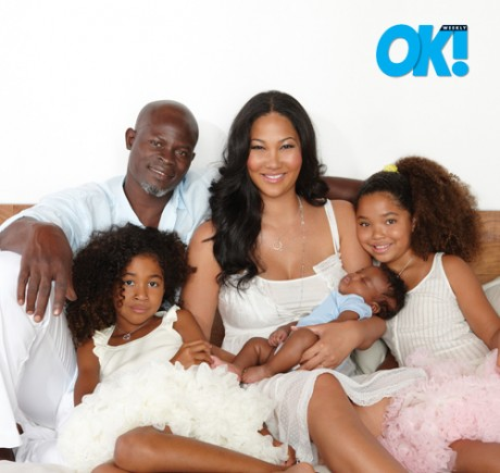 Djimon Hounsou & Kimora Lee Simmons Pictures