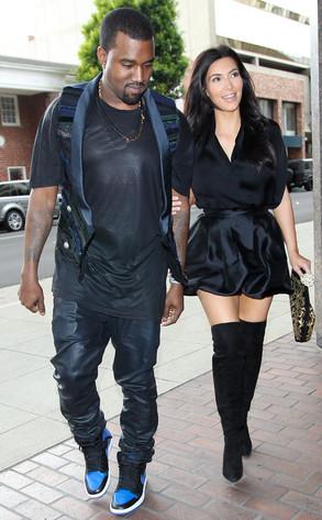 Kanye West & Kim Kardashian Image