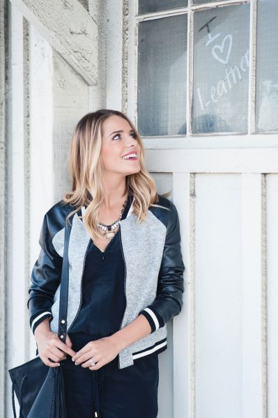 1 Varsity Leather Jacket Have 3 Grown-Up Ways To Wear
