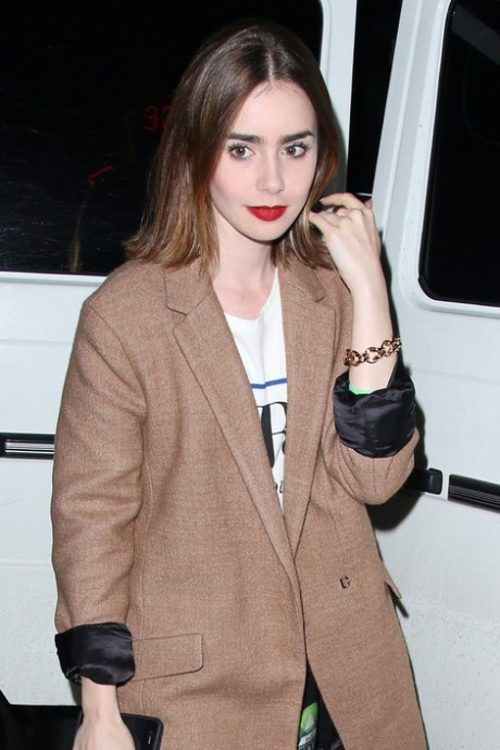 Lily Collins is smitten with Thomas Cocquerel