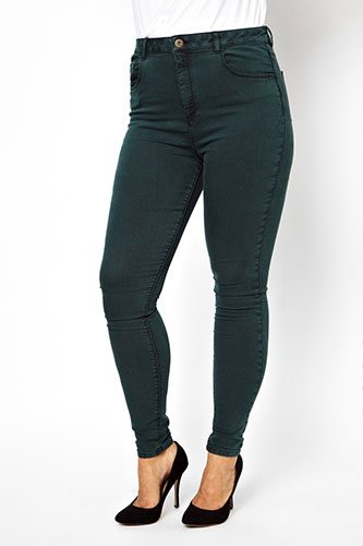 Flattering Plus-Size Denim Jeans Images