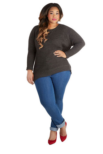Flattering Plus-Size Denim Jeans Pictures