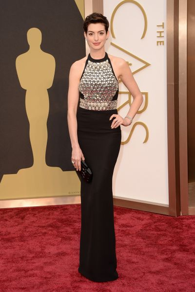 Anne Hathaway best dress From The Oscars 2014