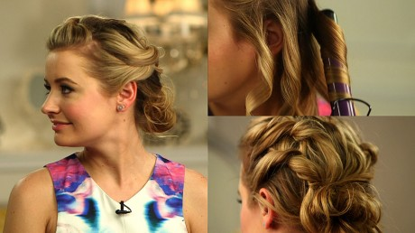 Romantic Updo Shoulder Length Hair