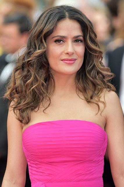 Salma Hayek Hot Pink Dress Pics
