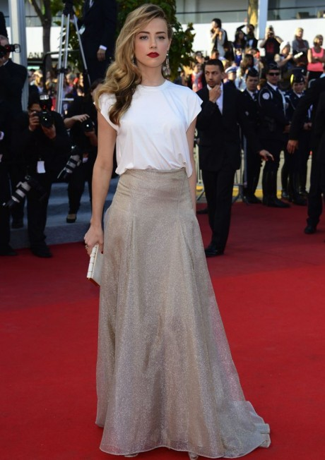 Amber Heard Hot Dress Pics at 67th Cannes Film Festival 2014 Red Carpet