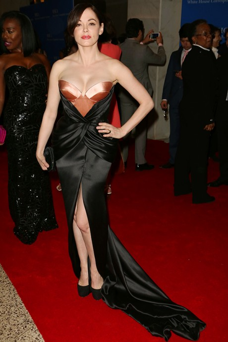 Rose McGowan Wore Lingerie To White House