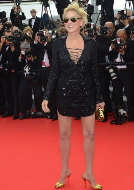 Sharon Stone Black dress Stunning Pics on Red Carpet