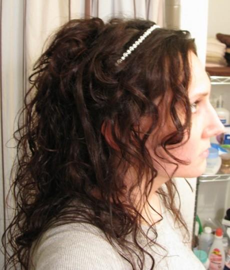 Handling wet hair roughly