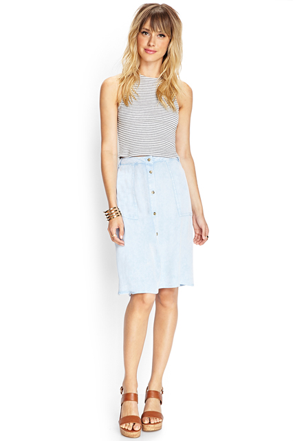 Denim Skirts Images
