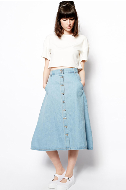 Denim Skirts Pictures
