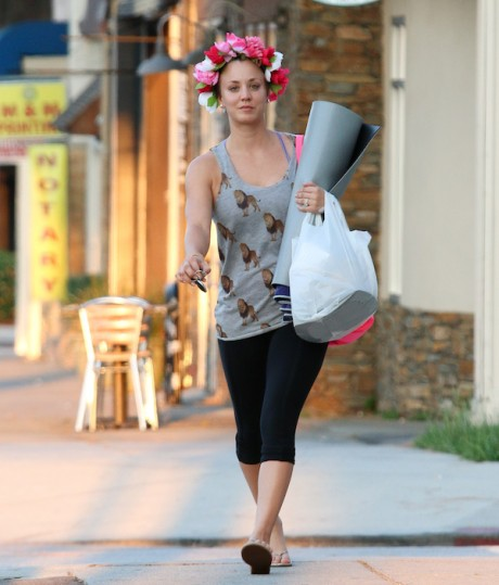 Open Post which Hosted By Kaley Cuoco In Flower Crown