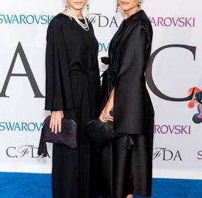 The Olsen twins unveil first ever wedding dress design