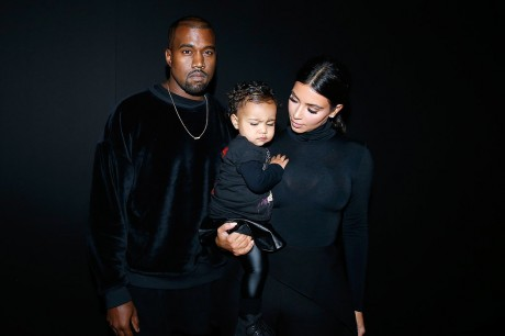 Kim and Kanye Attended First Fashion Show with North