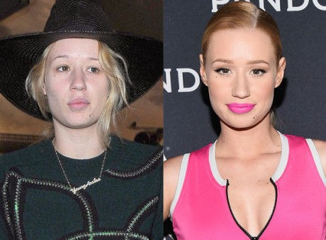 Iggy Azalea Ditches Bright Lipstick Goes Makeup-Free