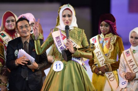 Fatma Ben Guefrache wins Title of Miss Muslimah World 2014 Images