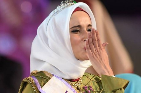 Fatma Ben Guefrache wins Title of Miss Muslimah World 2014 Pics