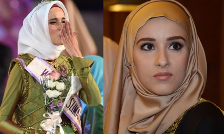 Fatma Ben Guefrache wins Title of Miss Muslimah World 2014 Images