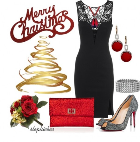 Women Hot Look Christmas Party Dresses Collection 2014-2015