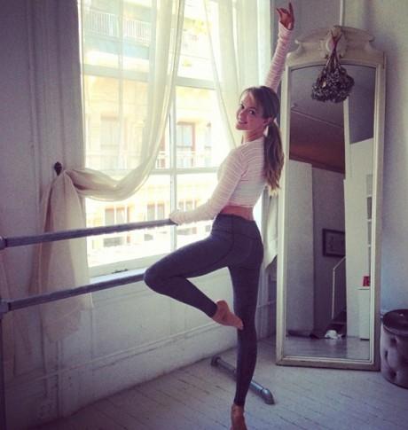 Behati Prinsloo Yoga Pics