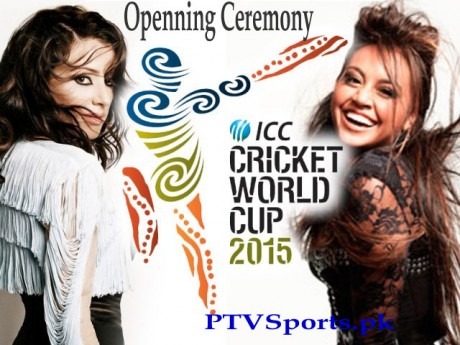 Jessica Mauboy & Tina Arena live performance at ICC World Cup 2015 Opening Ceremony