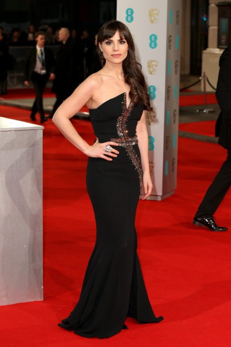 Charlotte Riley Baftas Awards 2015 Red Carpet Pictures