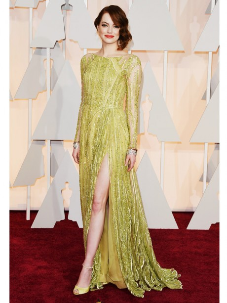 Emma Stone Red Carpet Oscar 2015