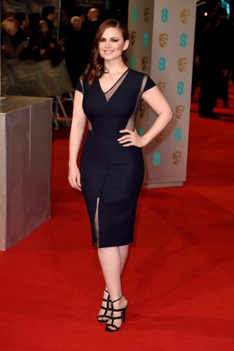 Hayley Atwell Baftas Awards 2015 Red Carpet Pictures
