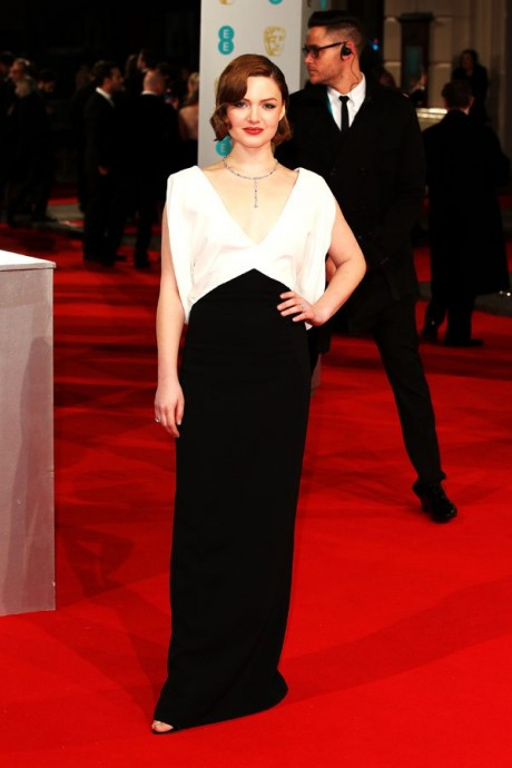 Holliday Grainger Baftas Awards 2015 Red Carpet Pictures