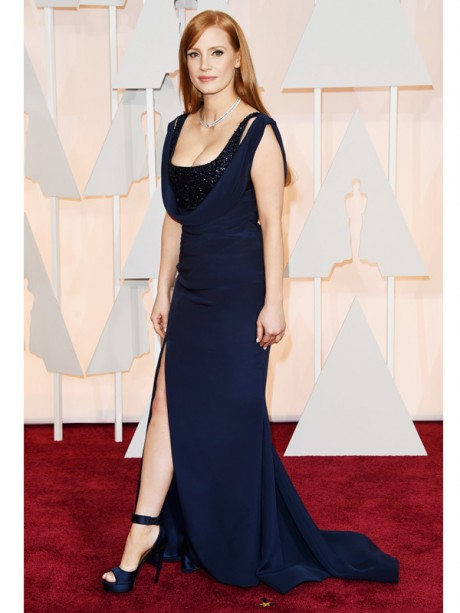 Jessica Chastain Red Carpet Oscar 2015