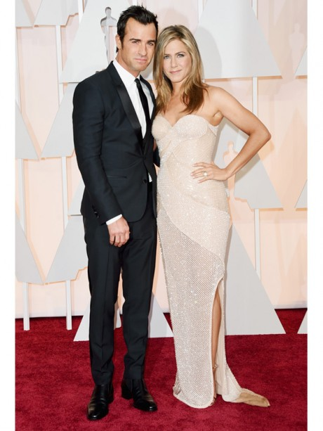 Justin Theroux and Jennifer Aniston Red Carpet Oscar 2015