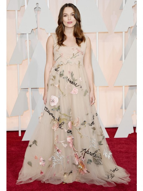 Keira Knightley Red Carpet Oscar 2015
