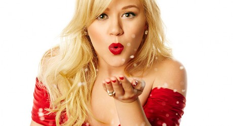 Kelly Clarkson Red Dress valentine's day pictures