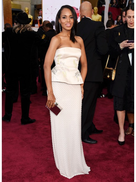 Kerry Washington Red Carpet Oscar 2015