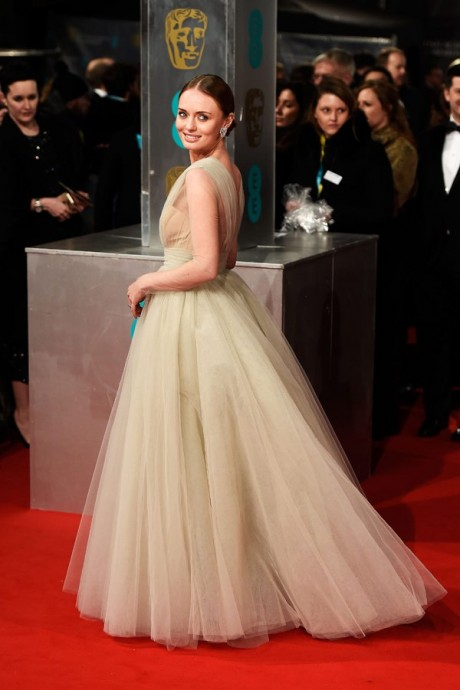 Laura Haddock Baftas Awards 2015 Red Carpet Pictures