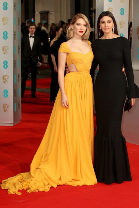 Lea Seydoux & Monica Bellucci Baftas Awards 2015 Red Carpet Pictures