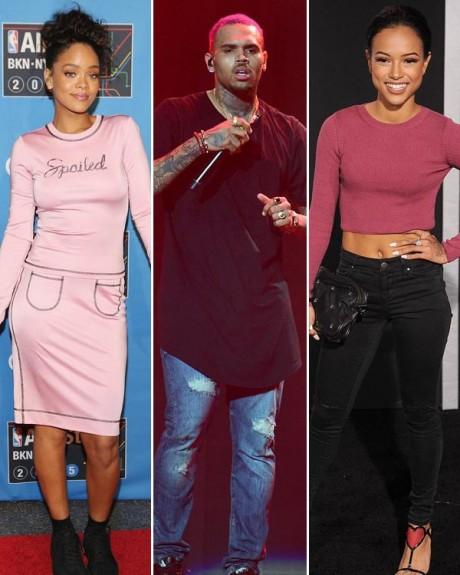 Rihanna-Karrueche-Chris Browns