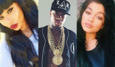 Blac Chyna and Tyga and Kylie Jenner