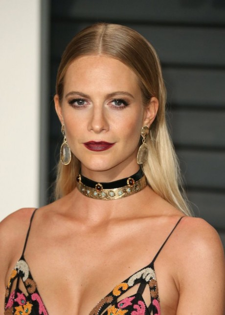 Poppy Delevingne at 2015 Vanity Fair Oscar Party Hosted By Graydon Carter