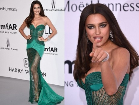 Irina-Shayk-wows-in-strapless-dress-600x453