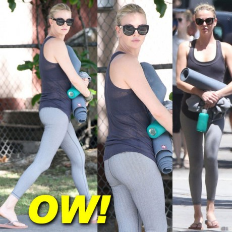 Charlize-Theron-Yoga Class Images