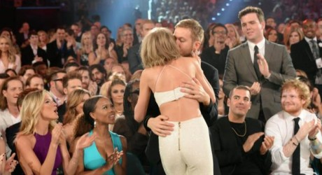 Taylor Swift and Calvin Harris celebrate one-year anniversary on Snapchat, Instagram